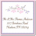 Name Doodles - Square Address Labels/Stickers (Chelsea Soft Pink)